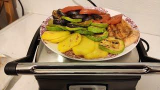Тест гриля/ приготовление овощей на гриле