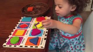 Teaching a 1 year old Shapes! Learning Shapes Preschool - Download this Video in MP3, M4A, WEBM, MP4, 3GP