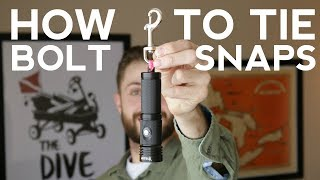 How To Tie Bolt Snaps | Quick Scuba Tips