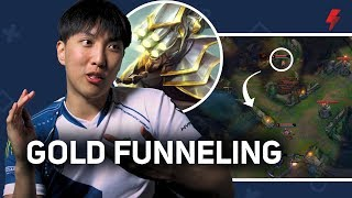 Doublelift Explains The Gold Funneling Strat (and Why He Hates It)   LoL Pro Tips