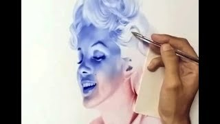 Drawing Marilyn Monroe With BallPoint Pen
