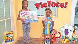 PIE FACE SKY HIGH CHALLENGE | Fun Family Game