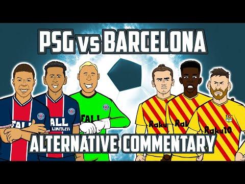 PSG vs Barcelona: Alternative Commentary  (Champions League Goals Highlights Mbappe)