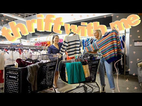 COME THRIFT WITH ME AT GOODWILL | 50% off SALE + a SUCCESSFUL THRIFT STORE TRY ON HAUL