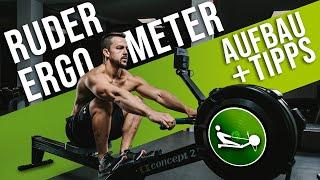 Concept2 Ruderergometer aufbauen - ANLEITUNG   Richtig RUDERN LERNEN    STRONGMOVE® Indoor Rowing