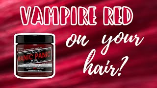 Manic Panic VAMPIRE RED | Hair Level Swatches