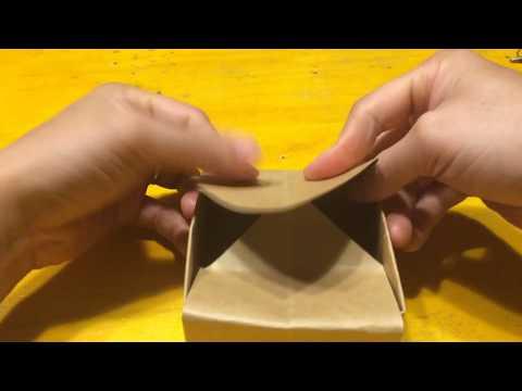 Hướng dẫn gấp hộp từ giấy bìa cứng- How to make a flower box from paper