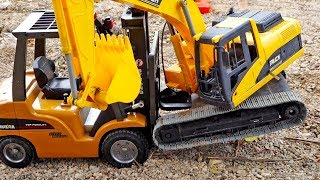 [1시간] 중장비 자동차 장난감 구출놀이 포크레인 도와주기 Construction Car Toy for Kids Helps Excavator