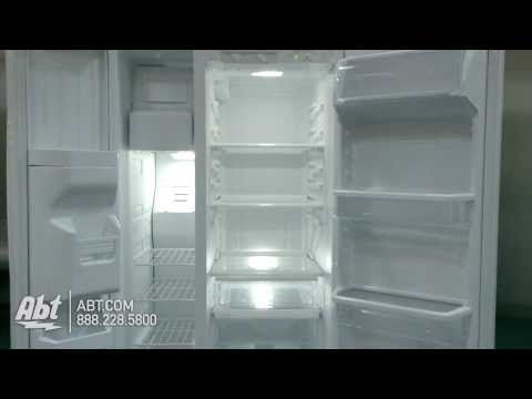 Whirlpool White Side-By-Side Refrigerator WRS322FDAW...