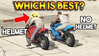 GTA 5 ONLINE : HELMET VS NO HELMET (WHICH IS BEST?)