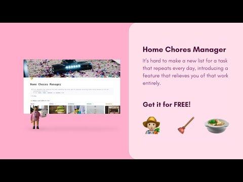 Home Chores Manager