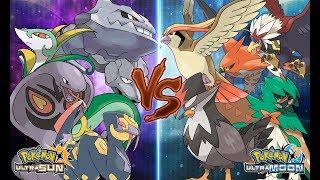 Braviary  - (Pokémon) - Pokemon Ultra Sun and Ultra Moon: Snake Vs Bird (Pokémon Wifi Battle)