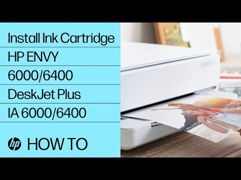 How to Install or Replace Ink Cartridges in the HP ENVY 6000/ENVY Pro 6400/DeskJet Plus Ink Advantage 6000/6400 Printer Series