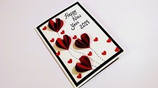 happy new year card for boyfriend how to make new year card tutorial