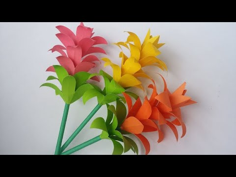 Beautiful Paper flower   DIY   Easy   Art and Craft