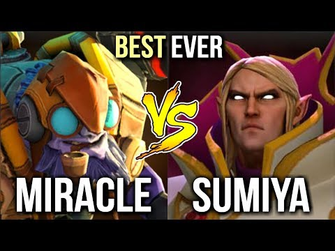 SumiYa Invoker GOD vs Miracle- Tinker GOD Most Epic Mid Battle First Time Ever in History of Dota 2