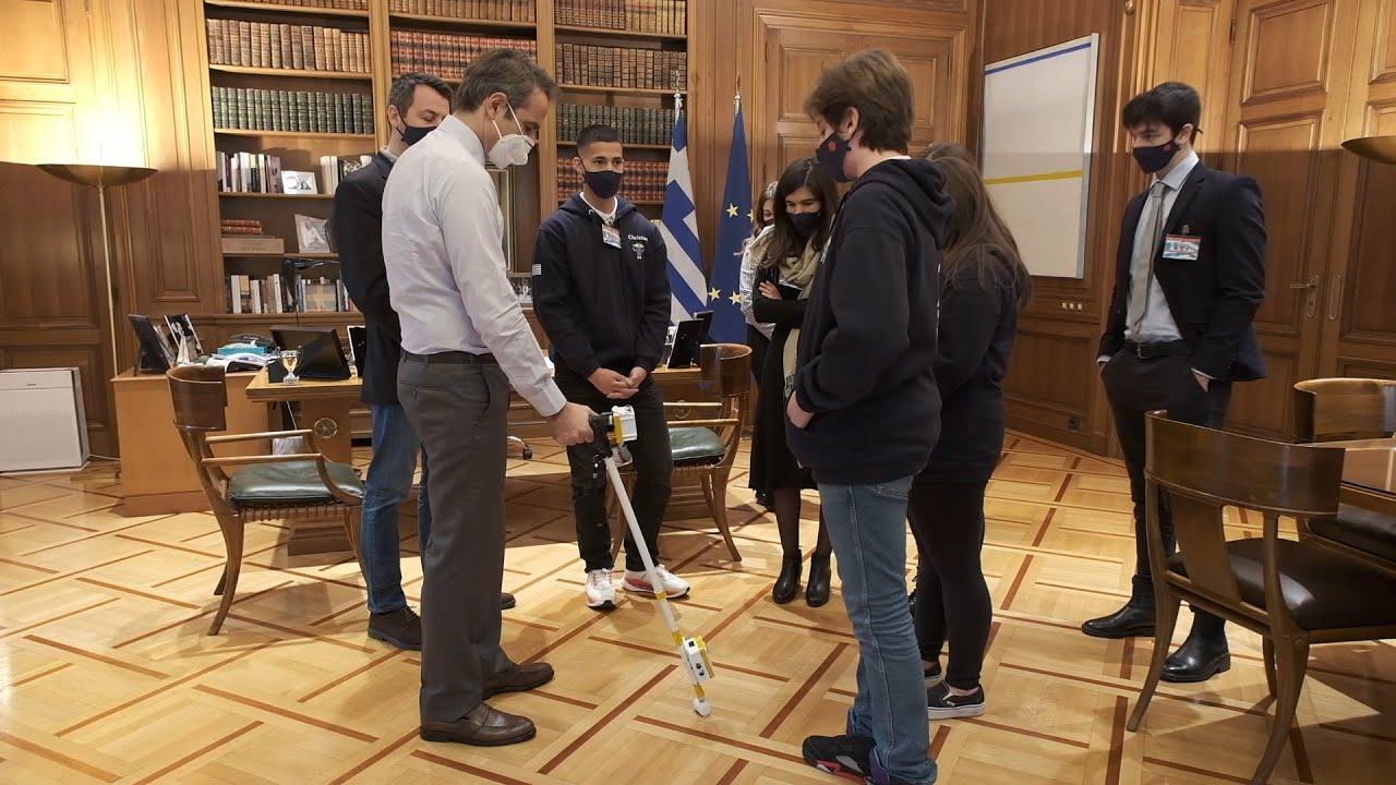 Συνάντηση του Πρωθυπουργού με τους χρυσούς ολυμπιονίκες της Διεθνούς Ολυμπιάδας Ρομποτικής