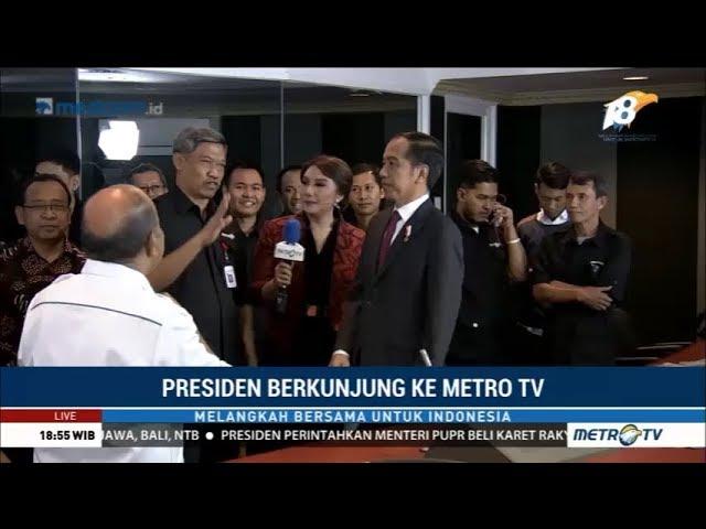 Jokowi Berkunjung ke Metro TV