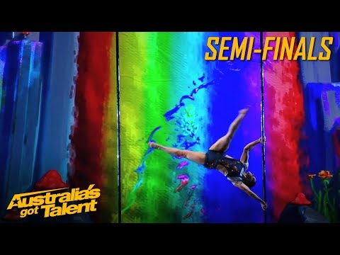 Kristy's RAINBOW Pole Dancing Has Us MESMERISED | Semi Final | Australia's Got Talent 2019