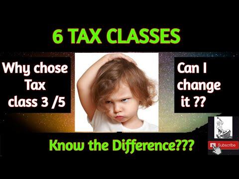 Tax Classes in Germany (Steuerklassen)  #ParaiAdi #Steuertips #Steuerklasse
