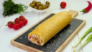Как приготовить сырный рулет с начинкой - Рецепты от Со Вкусом