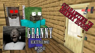 Monster School : Granny horror game Extreme Mode Challenge- Minecraft Animation