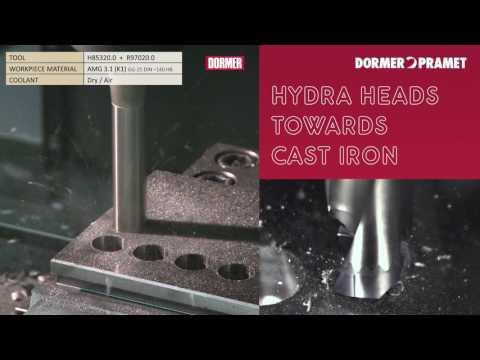 Dormer (R970) Hydra Wechselkopfbohrer - Gusseisen