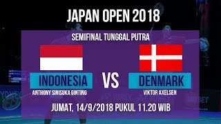 Live Streaming Semifinal Japan Open 2018 Tunggal Putra Putra, Sinisuka Ginting Vs Denmark