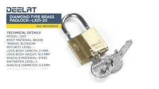 Diamond Type Brass Padlock--LX01-20
