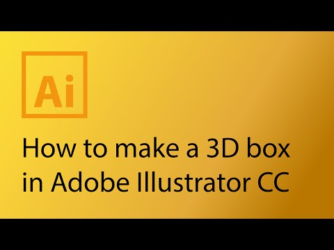 How to make a 3D box package in Adobe