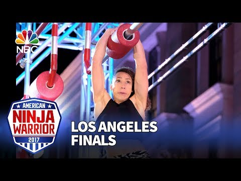 Zhanique Lovett at the Los Angeles Finals - American Ninja Warrior 2017