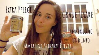 Haare waschen mit Amla Pulver und Shikakai | Graue Haare | Anwendung mit Kaffee