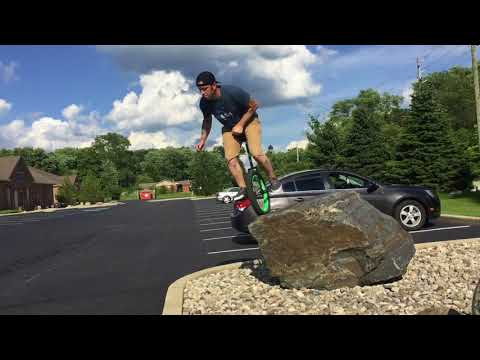Trials unicycling in Indy