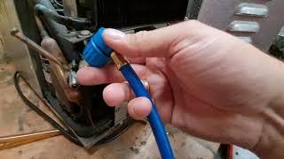 Zapfanlage kühlt nicht.  kältemittel r134a auffüllen ohne Löten