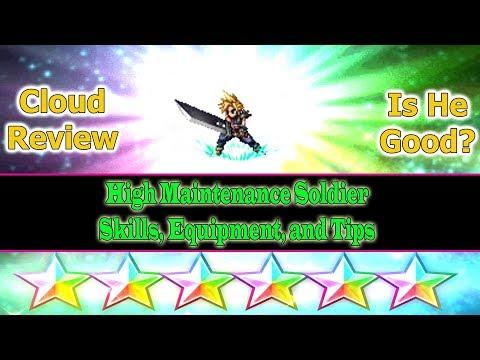 Final Fantasy Brave Exvius 6 stars Cloud Review: High Maintenance Soldier(#288)