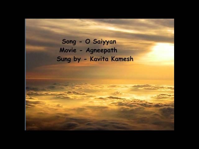 O saiyyan agneepath on screen lyrics hd youtube.