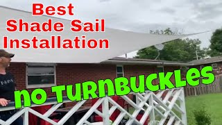 HOW TO INSTALL A SHADE SAIL / INSTALLATION REVIEW