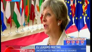 Theresa May promises EU citizens living in the UK that they will not have to leave