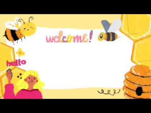 Bee Animated Background Green Screen Free Download For Video Lessons. (Online Class Animated)