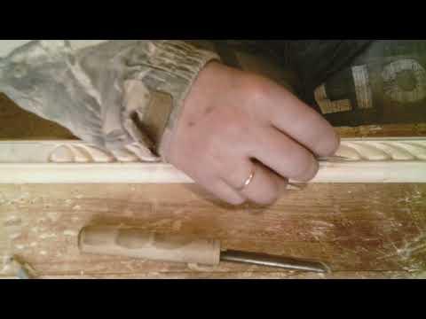 Резьба по дереву. Резная рама под зеркало. (Видео №1).