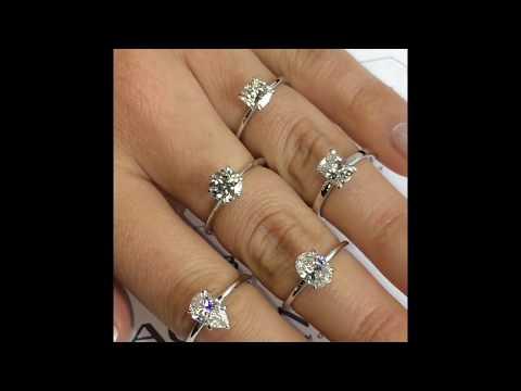1 ct Diamond Solitaires Lauren B Collection