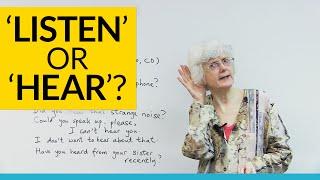 Basic English Lesson: LISTEN or HEAR?