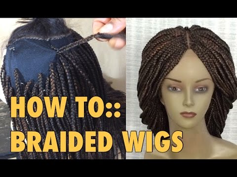 BRAIDED WIG//5 ways to attach extensions to wig cap