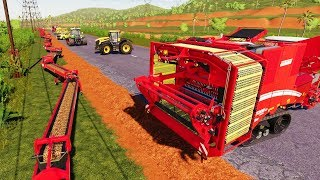 I Put Conveyor Belts Across the Entire Map - Farming Simulator 19