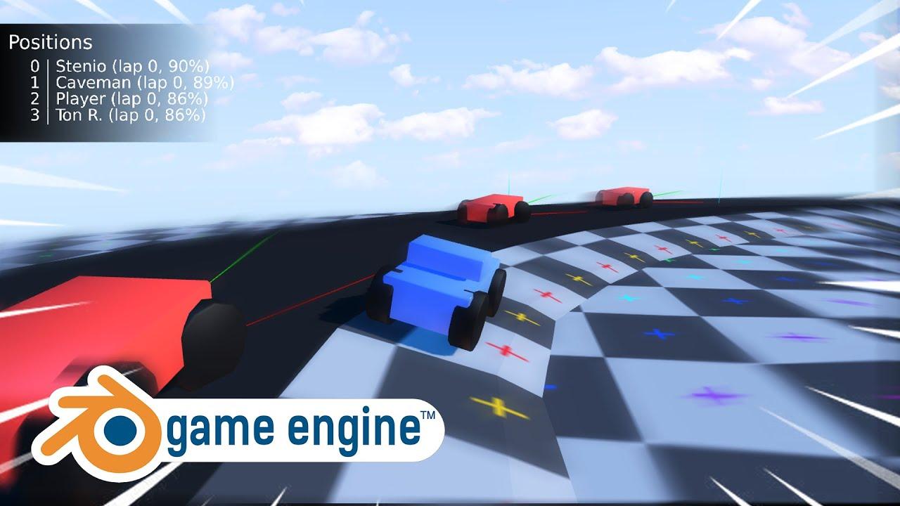 Racing Game Mechanics | Blender Game Engine (UPBGE) [WIP]