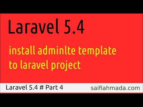 How to Install AdminLTE into Laravel Project - смотреть