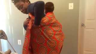 How To Use African Baby Wrap - Watch With Subtitles!