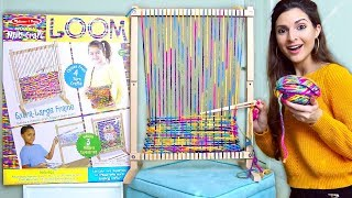 Testing A GIANT CRAFT LOOM For Yarn Weaving