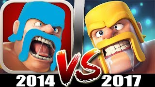 Starting Clash of Clans in 2014 Vs 2017 | Old CoC Vs New CoC - What Has Changed?