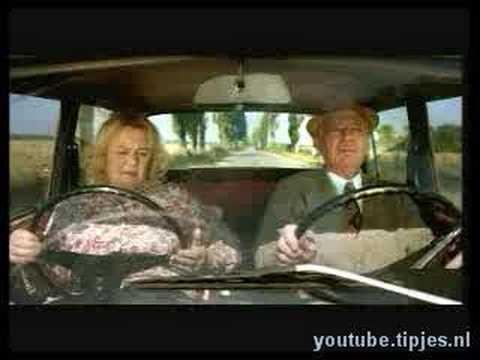 Humor video E-cards, Old lady scares other driver  funny humor